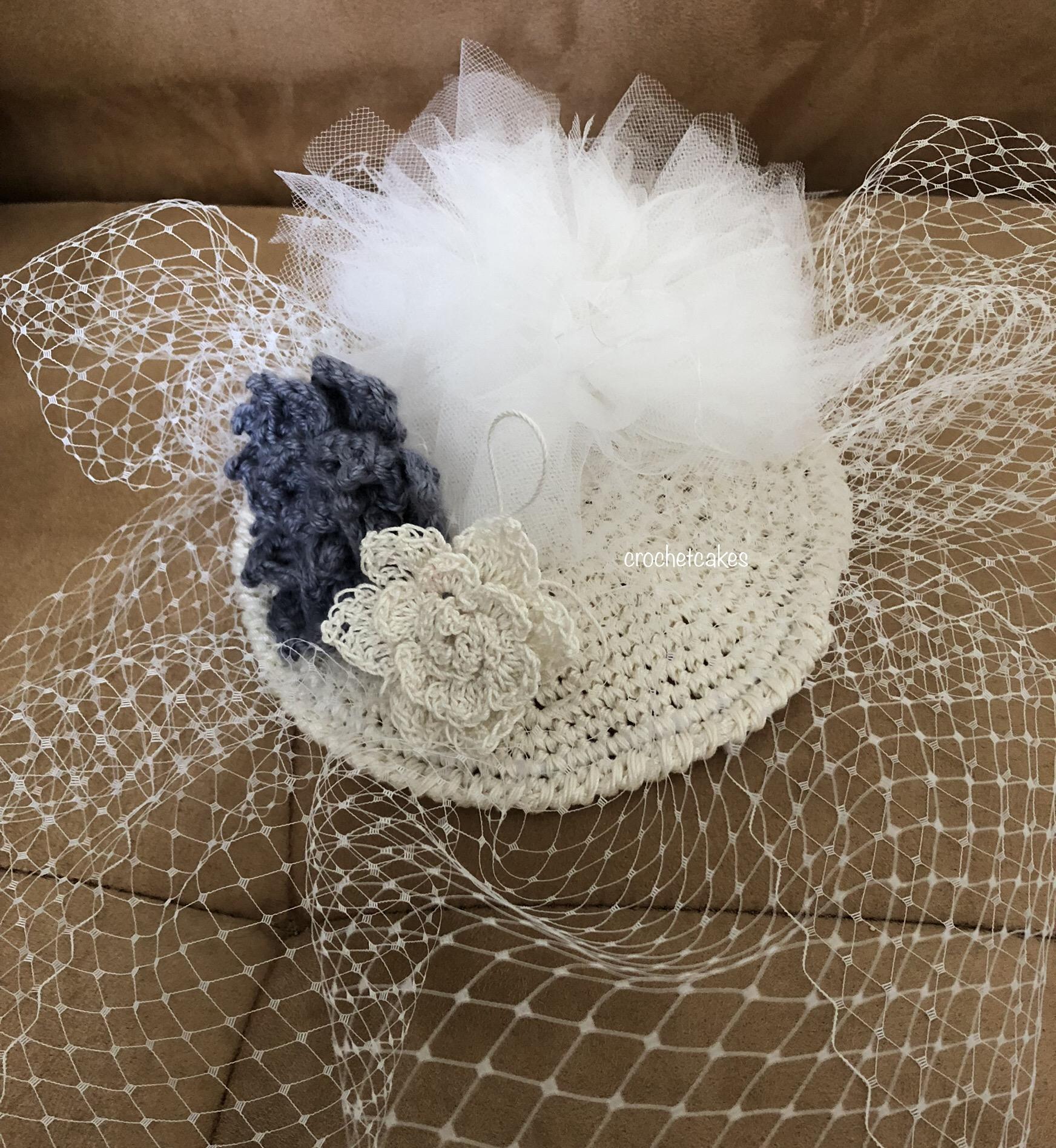 crochet fascinator