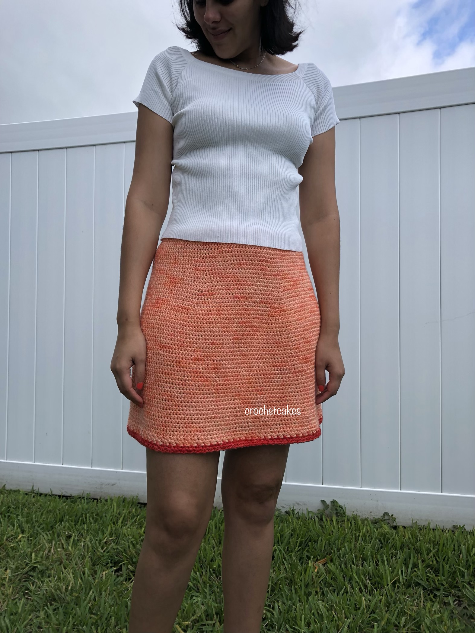 crochet a-like skirt