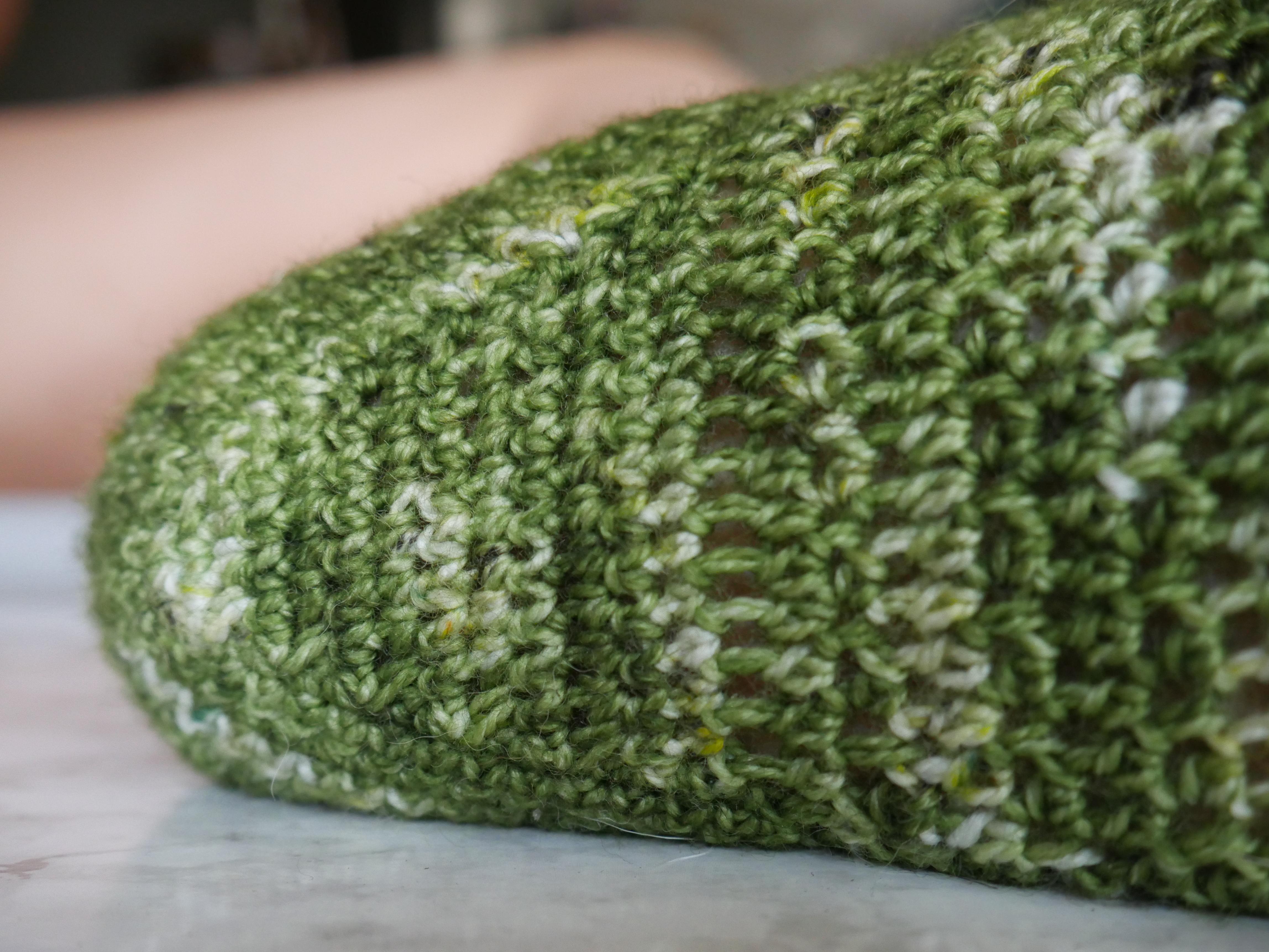 crochet heel