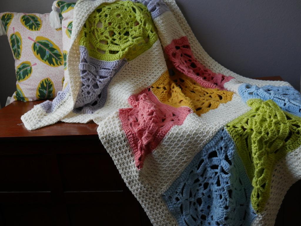 summer sorbet crochet blanket