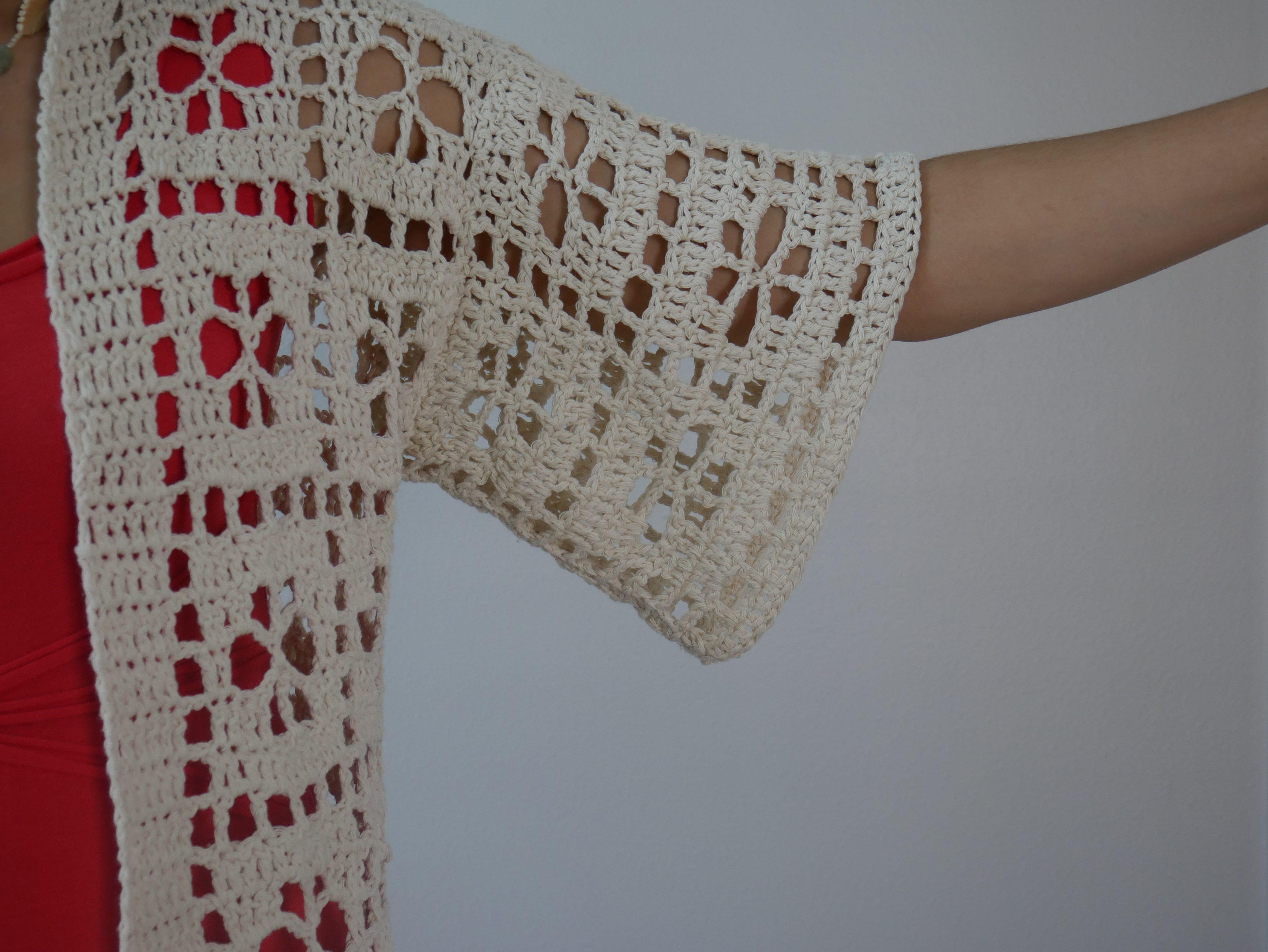 crochet flower duster sleeve
