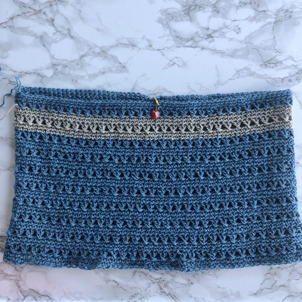 Lapis lazuli crochet top
