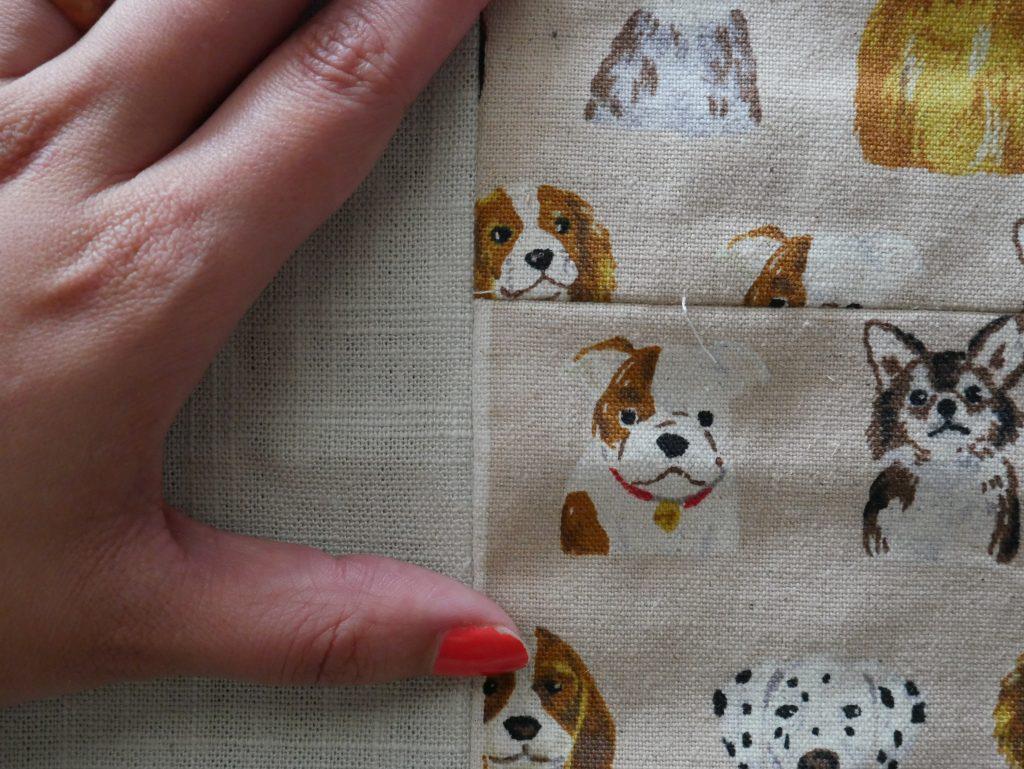 seaming a handmade tablecloth